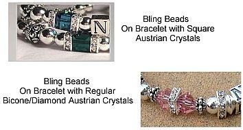 Swarovski SQUARE Crystal, Bling beads and Swarovski BiCone Beads
