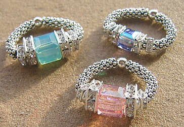Crystal Rings, Bling Rings, Sterling and Crystal Rings