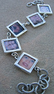 Handcrafted Mothers Personalized Jewelry, Photo Bracelet, Mommy, Grandma Bracelets
